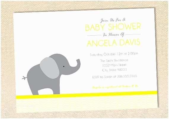 Baby Elephant Baby Shower Invitations Elephant Baby Shower Invitation Set Of 12