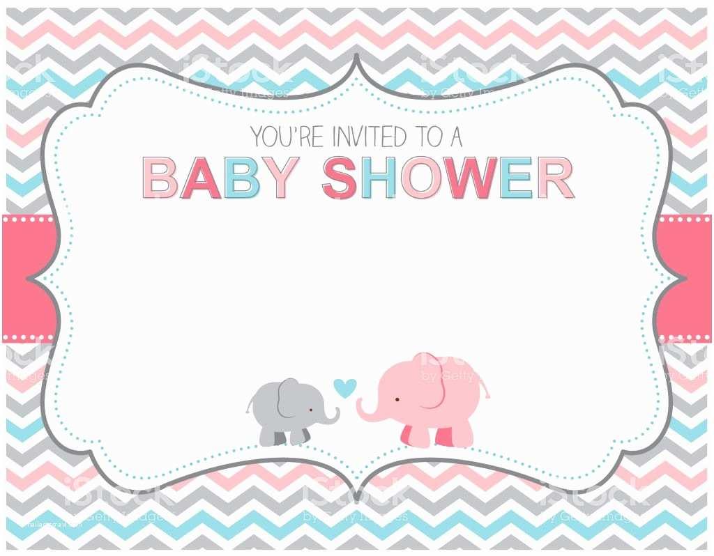Baby Elephant Baby Shower Invitations Elephant Baby Shower Invitation Stock Vector Art &