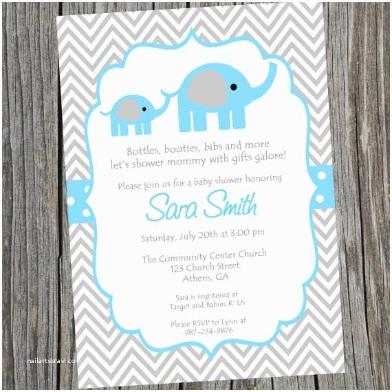 Baby  Baby Shower Invitations  Invitation Baby Shower Invite Blue