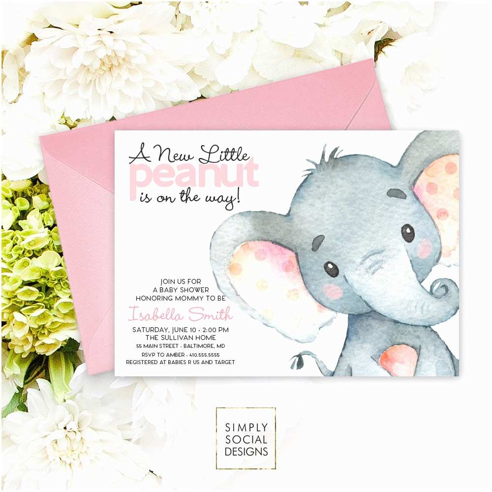Baby Elephant Baby Shower Invitations Pink Elephant Baby Shower Invitation It S A