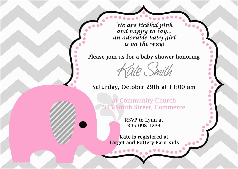 Baby Elephant Baby Shower S Printable Pink Elephant Chevron Baby Shower
