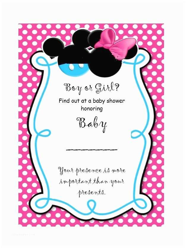 Baby Gender Reveal Invitations 17 Free Gender Reveal Invitation Templates Template Lab