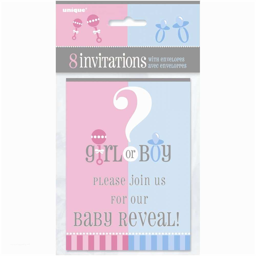 Baby Gender Reveal Invitations Baby Shower Invitations