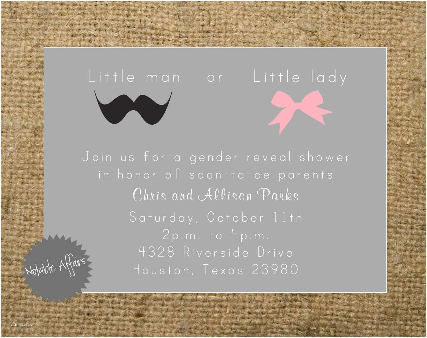 Baby Gender Reveal Invitations Gender Reveal Baby Shower Invitations