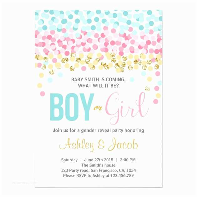 Baby Gender Reveal Invitations Personalized Gender Reveal Invitations