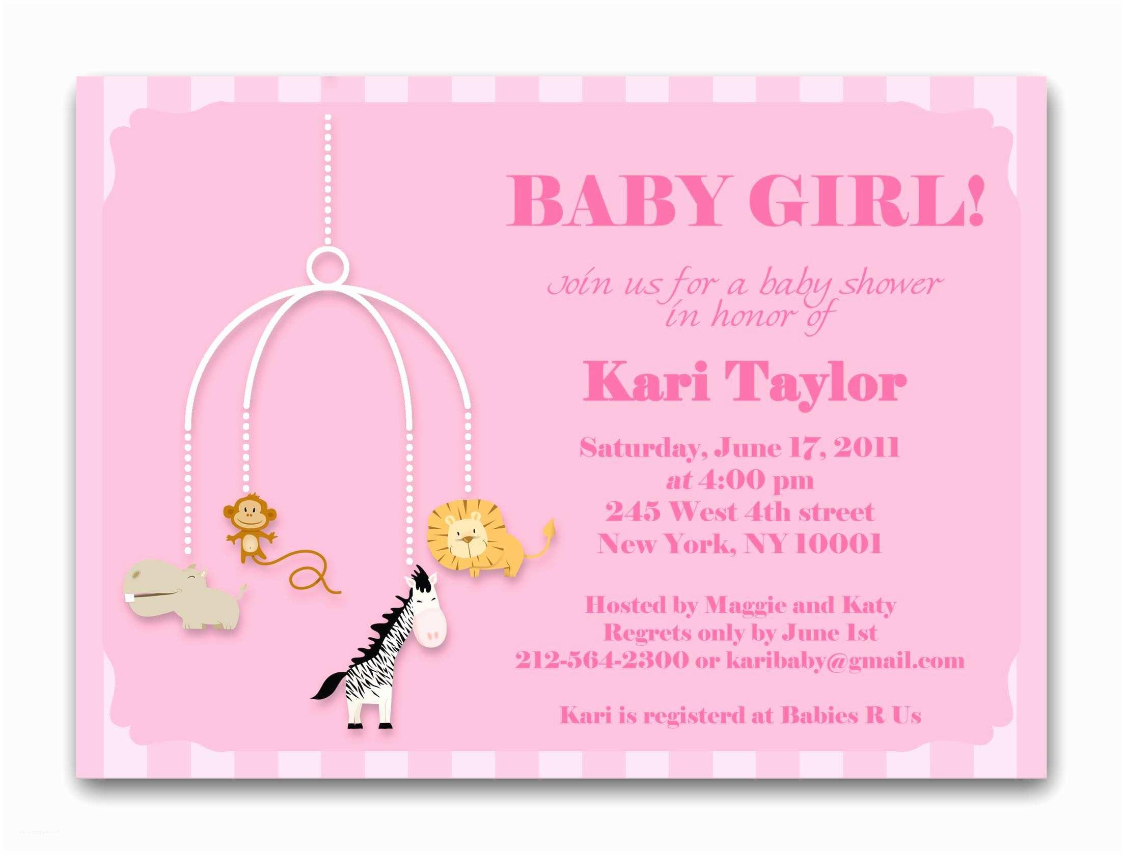 Baby Girl Baby Shower Invitations Baby Shower Invitations for Girls