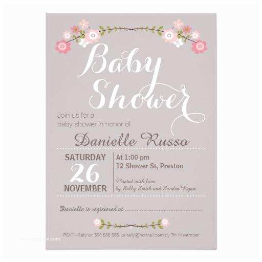 Baby Girl Baby Shower Invitations Girl Baby Shower Invitations