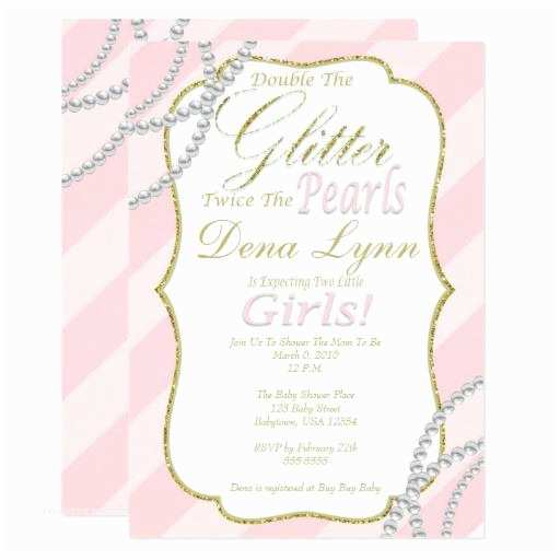 Baby Girl Baby Shower Invitations Twin Baby Shower Invitations