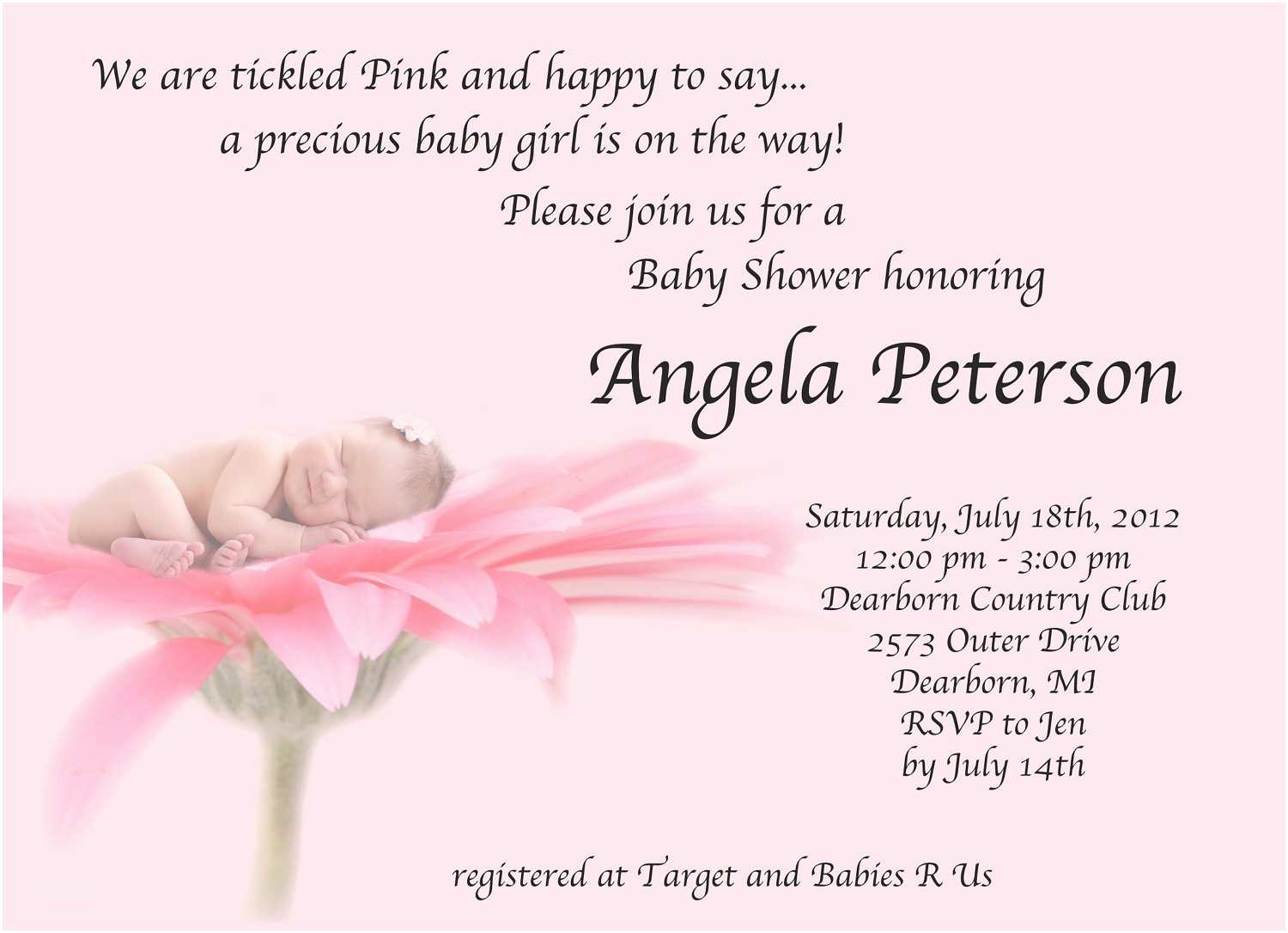 baby girl shower invitation baby girl shower invitation garden