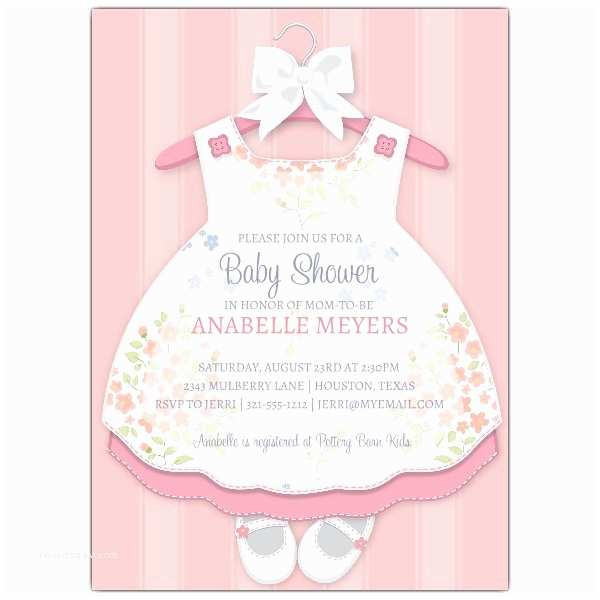 Baby Girl Shower Invitations Baby Girl Dress Invitations