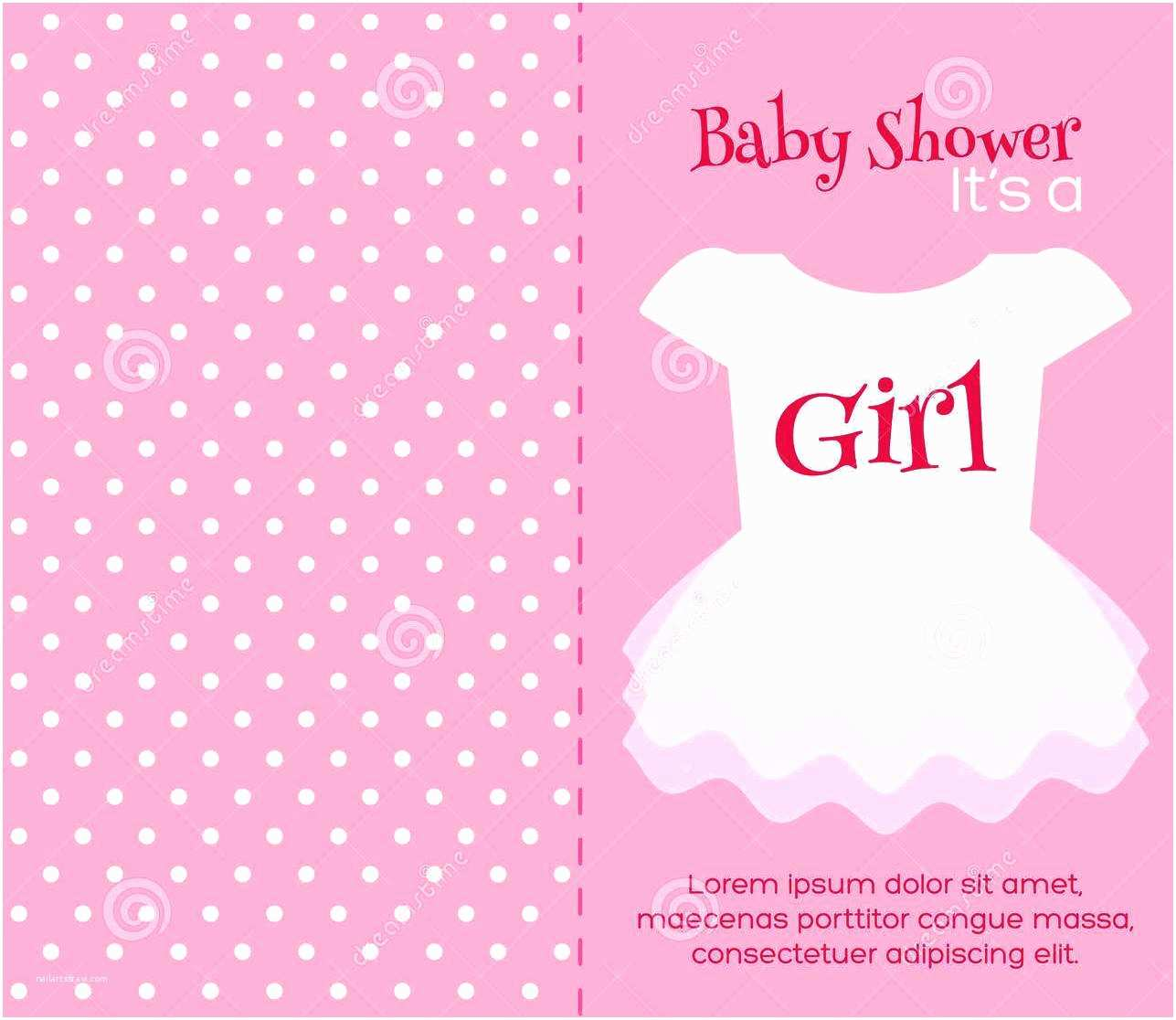 Baby Girl Shower Invitations Baby Shower Invitations Blank Baby Shower Invitations