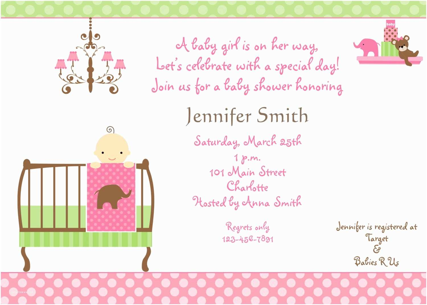 Baby Girl Shower Invitations Baby Shower Invitations for Girls Baby Shower