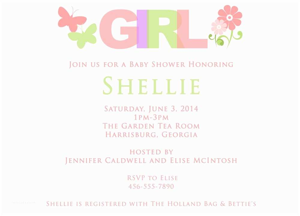 Baby Girl Shower Invitations Designs and Wordings for Girl Baby Shower Invitations