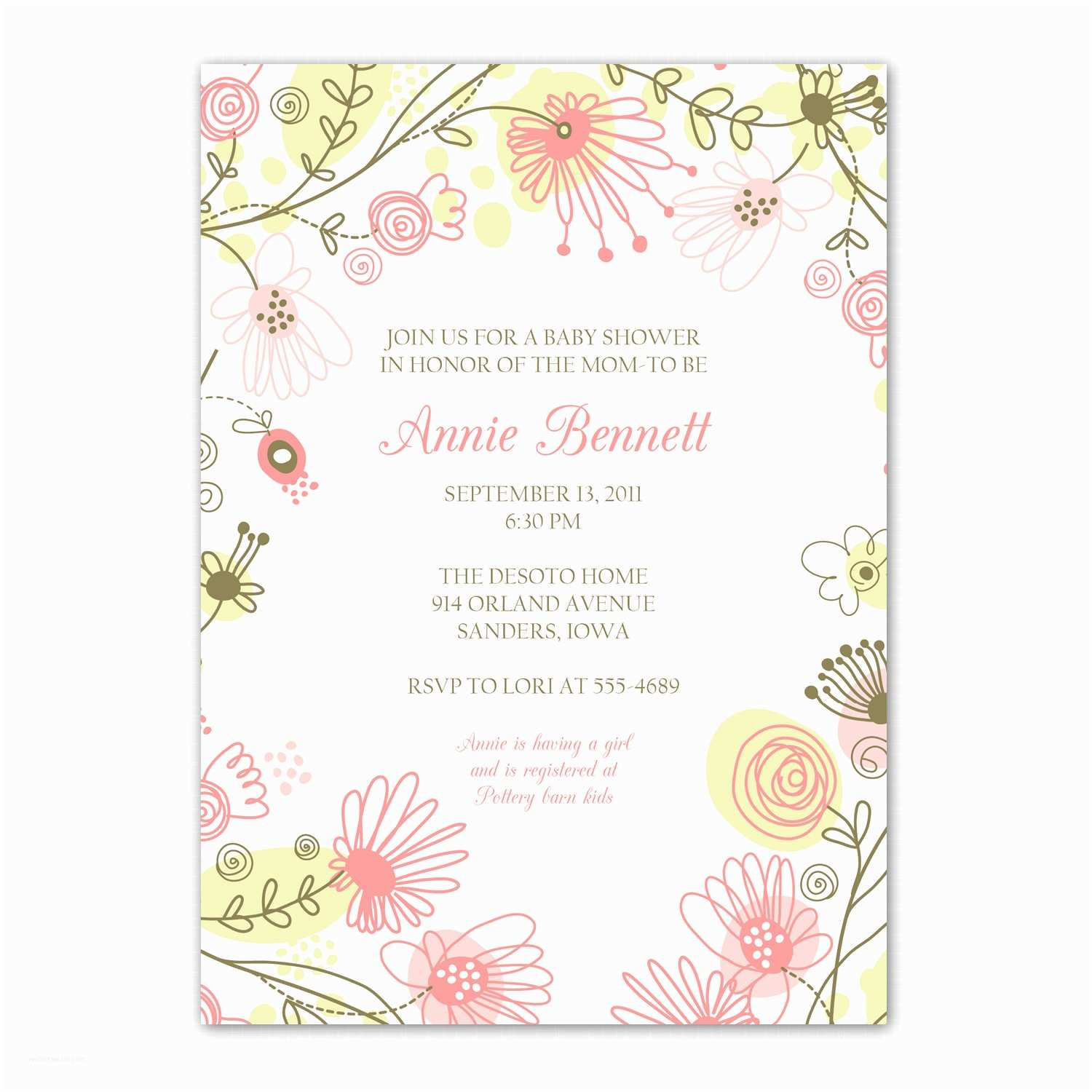 Baby Girl Shower Invitations Less ordinary Designs Modern Baby Girl Shower Invitations