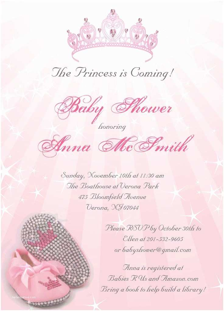 Baby Girl Shower Invitations Princess Baby Shower Invitations