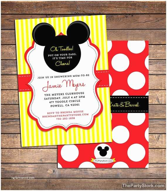 Baby Mickey Mouse Baby Shower Invitations Mickey Mouse Baby Shower Invitation Printable Baby Boy or