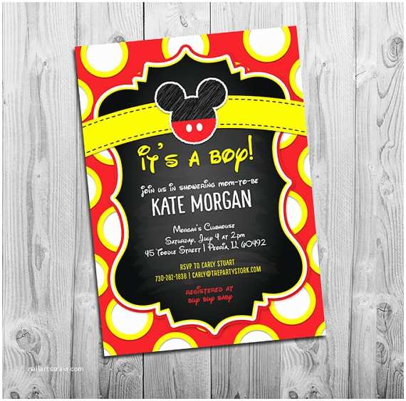Baby Mickey Mouse Baby Shower Invitations Mickey Mouse Baby Shower Invitations Boy Baby Shower