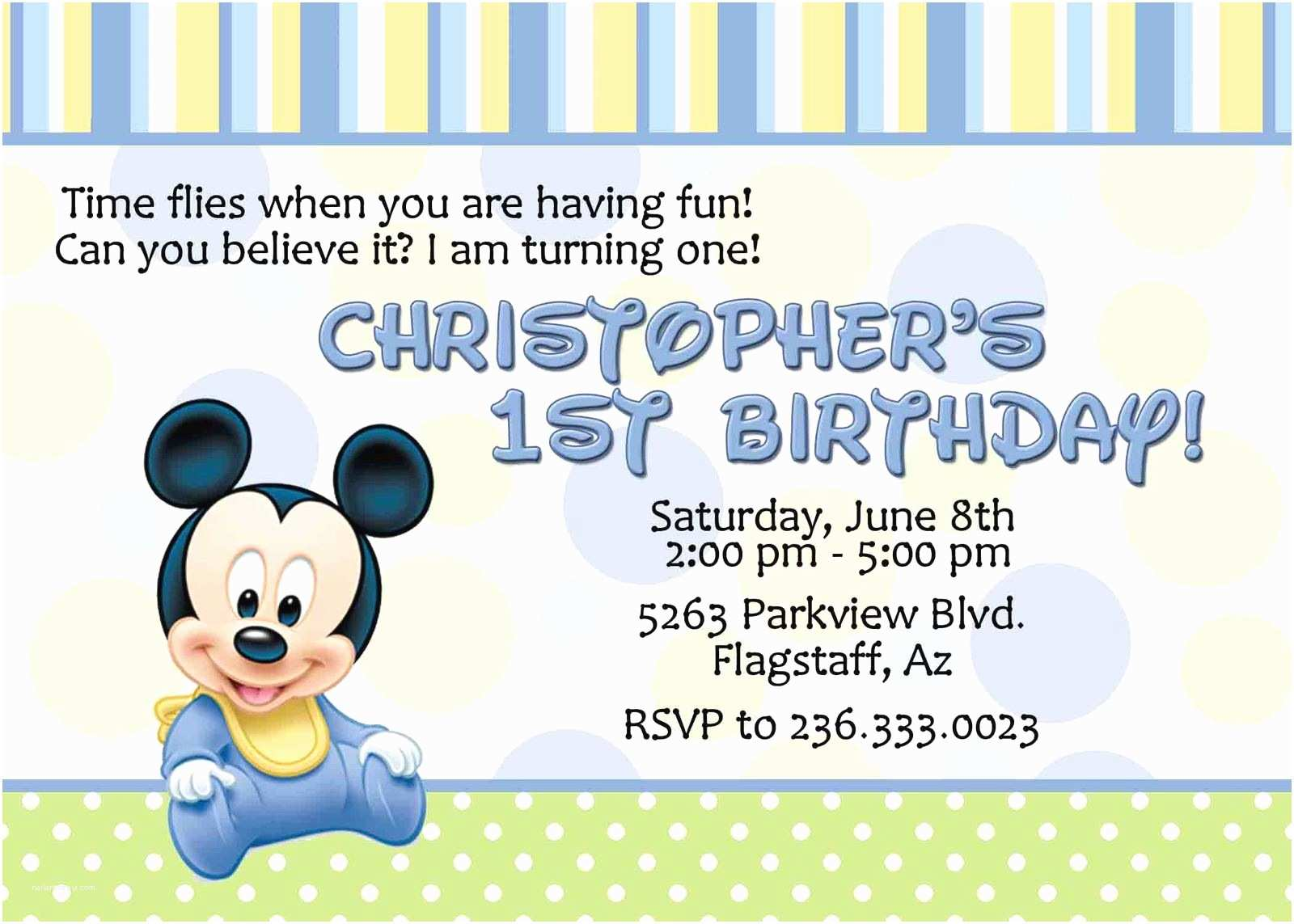 Baby Mickey Mouse Baby Shower Invitations Printable Baby Mickey Mouse Invitation Birthday Baby