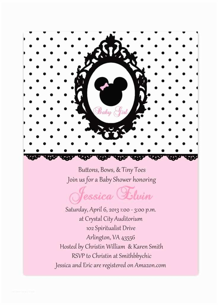 Baby Minnie Mouse Baby Shower Invitations 10 Best Minnie Mouse Baby Shower Invitations Walmart