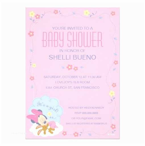 Baby Minnie Mouse Baby Shower Invitations Baby Minnie Mouse Baby Shower Invitation Card