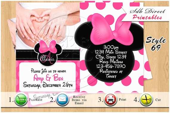 Baby Minnie Mouse Baby Shower Invitations Baby Shower Invitations Minnie Mouse