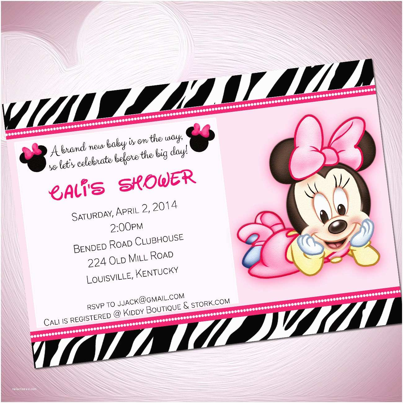 Baby Minnie Mouse Baby Shower Invitations Cute Minnie Mouse Baby Shower Invitations
