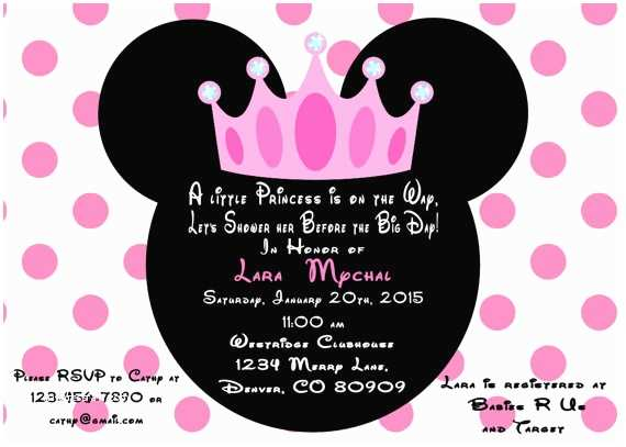 Baby Minnie Mouse Baby Shower Invitations How to Make Minnie Mouse Baby Shower Invitations Templates