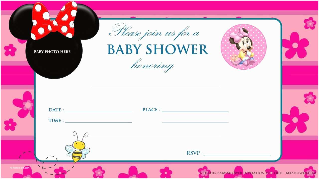 Baby Minnie Mouse Baby Shower Invitations Invitation for Baby Shower Charming Free Printable Minnie