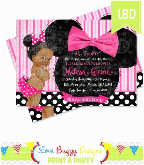 Baby Minnie Mouse Baby Shower Invitations Minnie Mouse Baby Shower Invitation Baby Girl Minnie Style