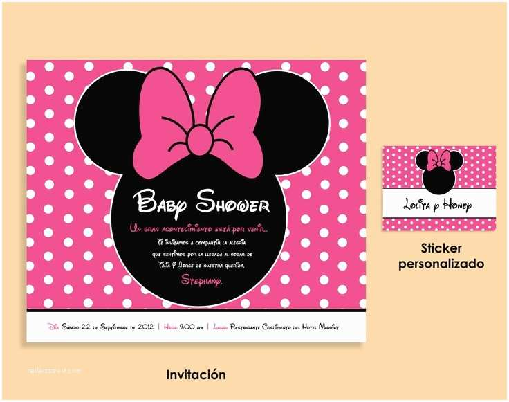 Baby Minnie Mouse Baby Shower Invitations Minnie Mouse Baby Shower Invitation