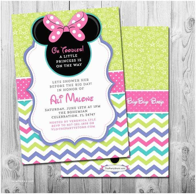 Baby Minnie Mouse Baby Shower Invitations Minnie Mouse Baby Shower Invitation Printable Girl Invite