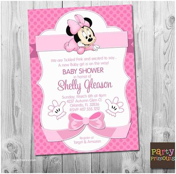 Baby Minnie Mouse Baby Shower Invitations Minnie Mouse Baby Shower Invitation Printable