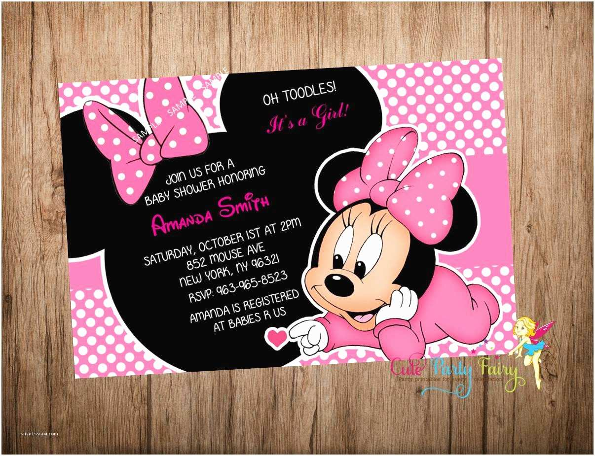 Baby Minnie Mouse Baby Shower Invitations Minnie Mouse Baby Shower Invitations Free Templates