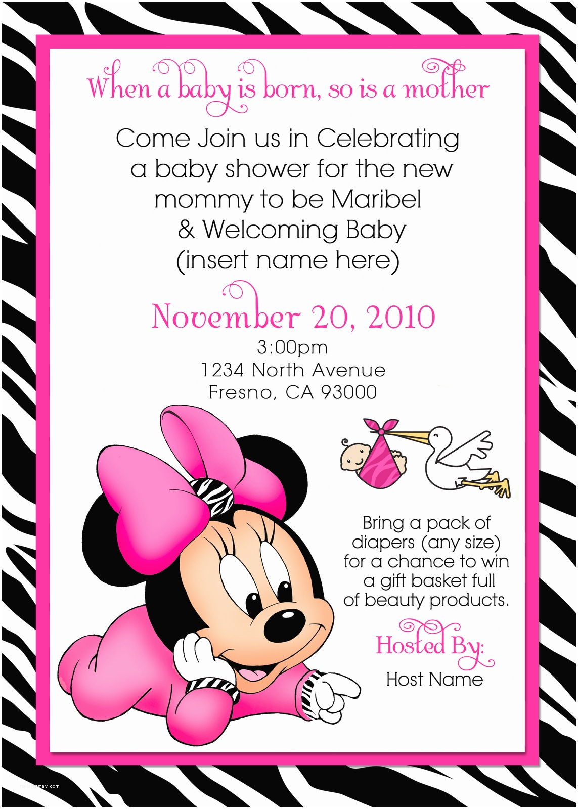 Baby Minnie Mouse Baby Shower Invitations Printable Minnie Mouse Baby Shower Invites