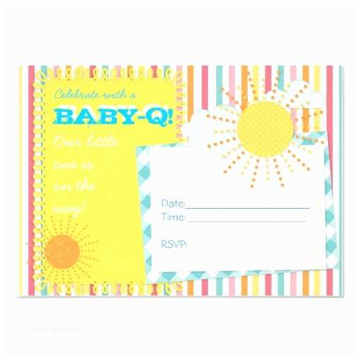 """Baby Q Shower Invitations Baby Q Couples Baby Shower Invitation 5"""" X 7"""" Invitation"""