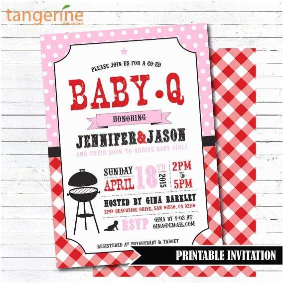 Baby Q Shower Invitations Baby Q Invitation Girl Baby Shower Invitation Bbq Baby