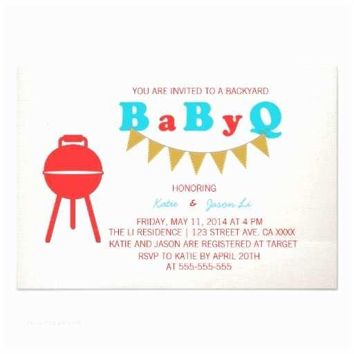 Baby Q Shower Invitations Baby Q Shower Invitation