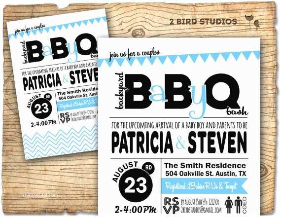 Baby Q Shower Invitations Baby Shower Invitation Barbecue Baby Q Baby Shower Invite