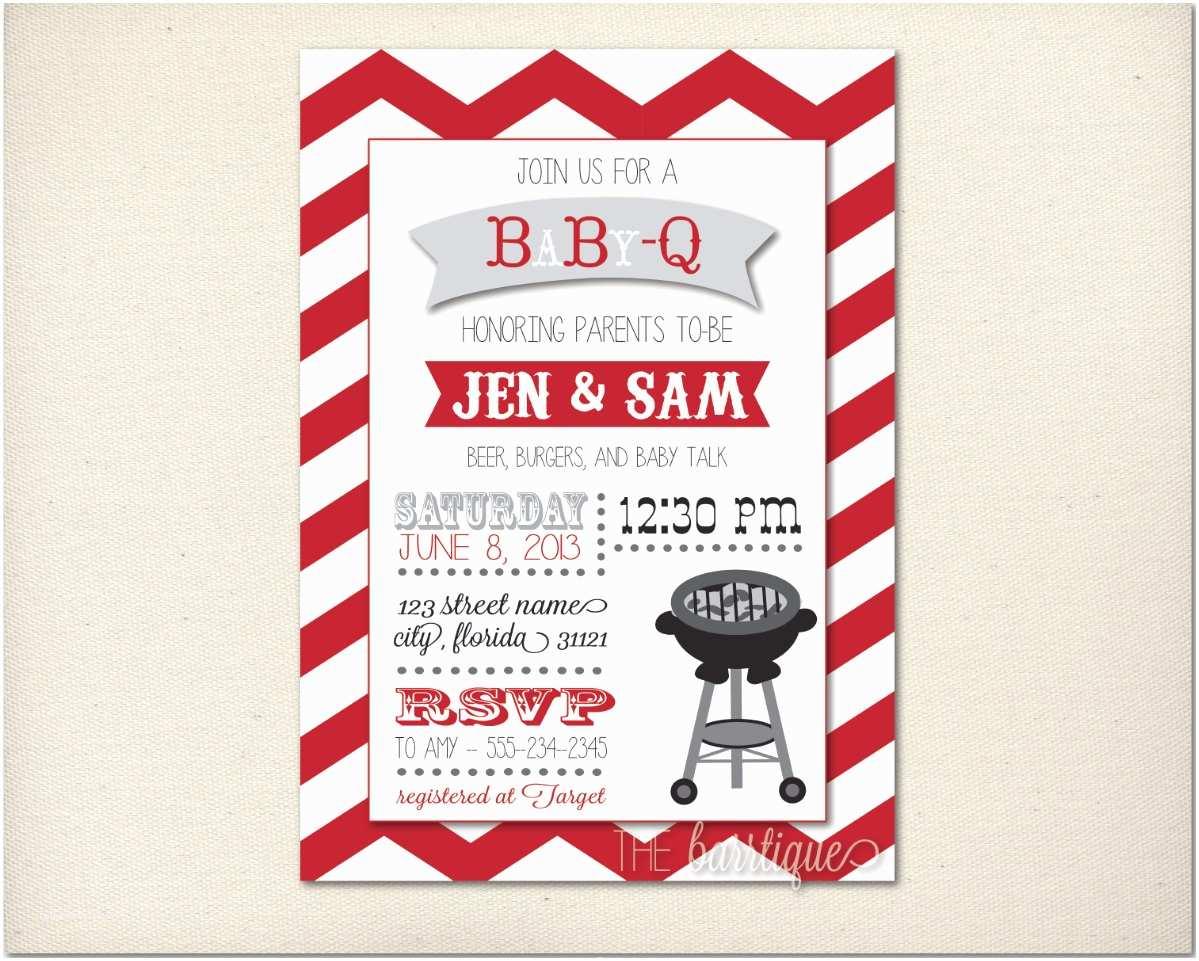 Baby Q Shower Invitations Babyq Babycue Baby Q Shower Invitations Personalized Digital