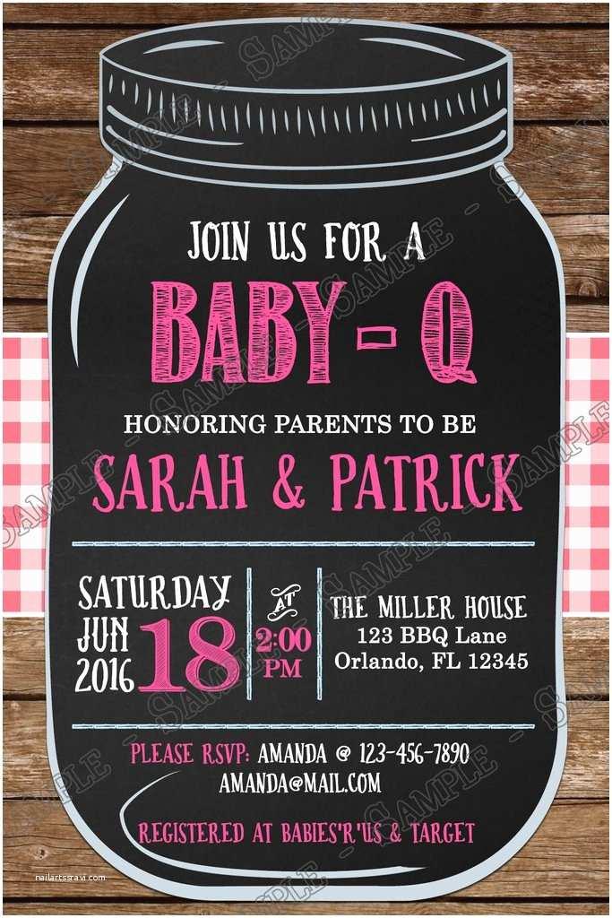 Baby Q Shower Invitations Novel Concept Designs Bbq Baby Q Baby Girl Baby