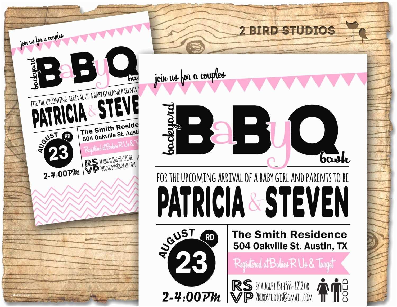 Baby Shower Bbq Invitations Baby Q Baby Shower Invitation Barbecue Bbq Baby Shower
