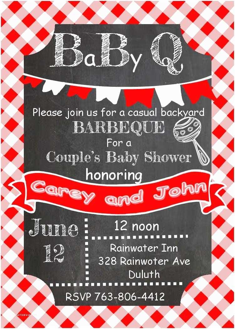 Baby Shower Bbq Invitations Baby Shower Bbq Invitations