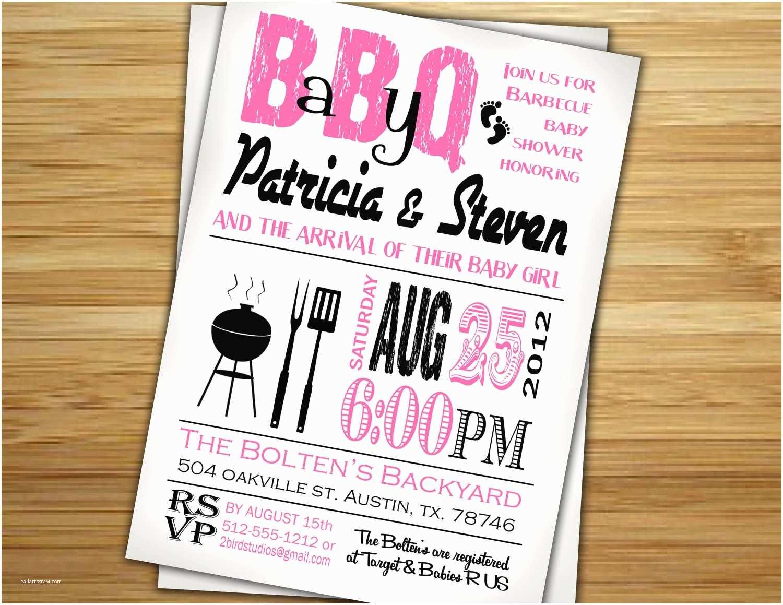 Baby Shower Bbq Invitations Baby Shower Invitations Couples Baby Shower Bbq