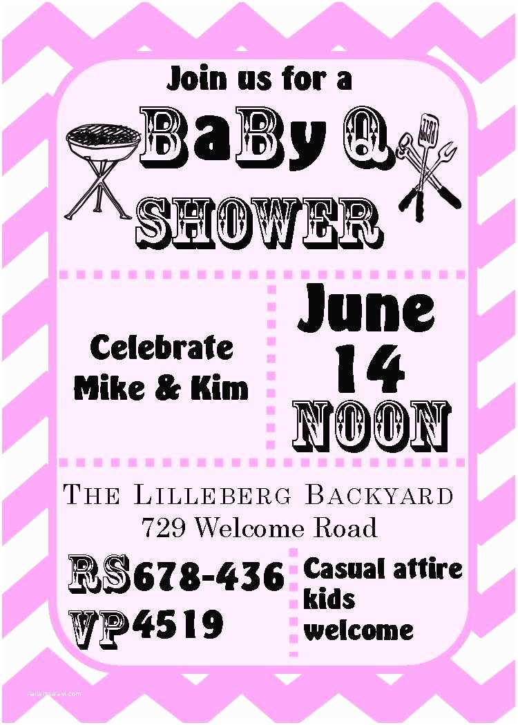 Baby Shower Bbq Invitations Baby Shower Invitations for Couples