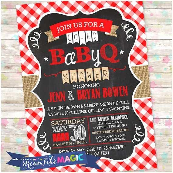 Baby Shower Bbq Invitations Bbq Baby Shower Invite Babyq Shower Printable Baby