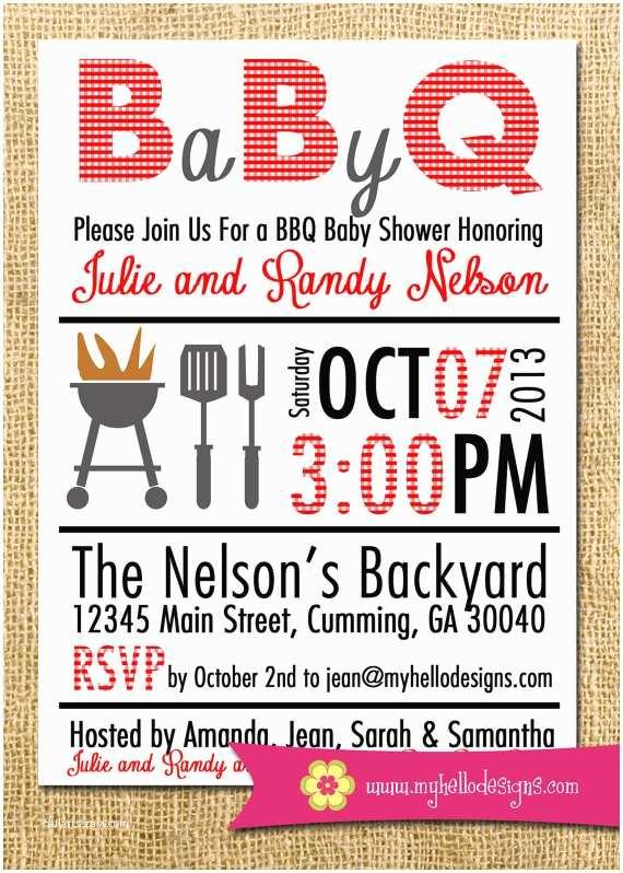Baby Shower Bbq Invitations Printable Bbq Invitation Any Color Bination Backyard Bbq