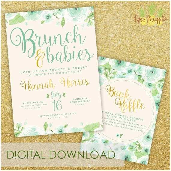 Baby Shower Brunch Invitations Brunch & Babies Baby Shower Invitation Printable