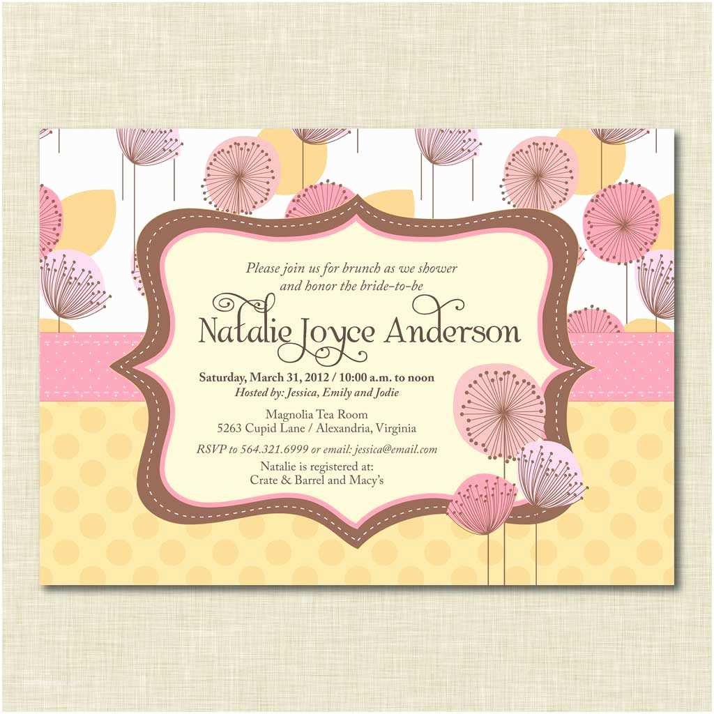 Baby Shower Brunch Invitations Baby Brunch Shower Invitation Baby