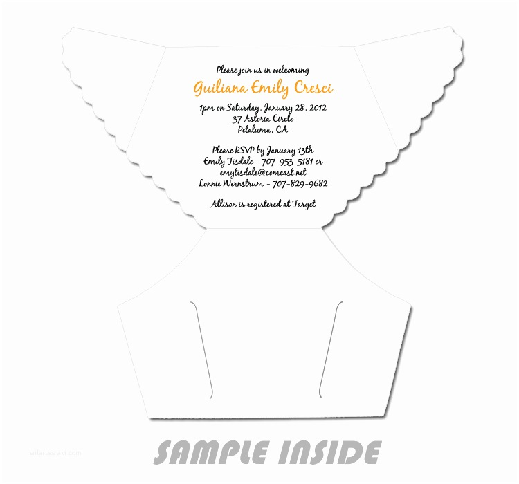Baby Shower Diaper Invitations 6 Best Of Diaper Invitation Template Printable
