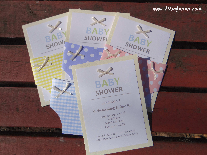 Baby Shower Diaper Invitations Baby Shower Invitations Make Baby Shower Invitations for